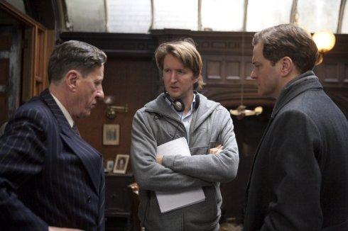"""Geoffrey Rush, Tom Hooper et Colin Firth sur """"Le Discours d'un Roi"""""""