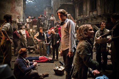 Tom Hooper sur le tournage des Misérables